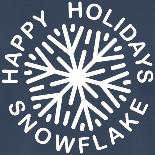 Happy Holidays Snowflake - Men's Premium T-Shirt