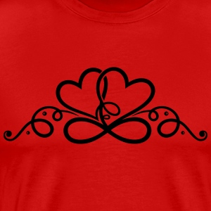 Two hearts in love with infinity symbol. - Men's Premium T-Shirt