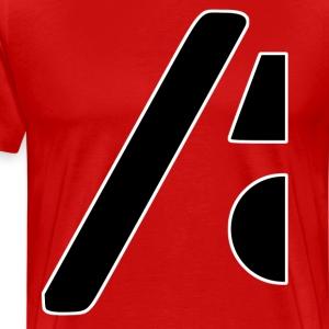 Half the logo, full on style - Men's Premium T-Shirt