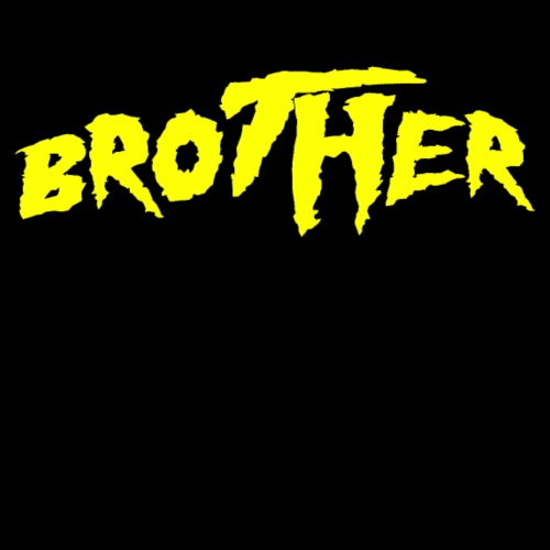 Brother yellow on red - Men's Premium T-Shirt