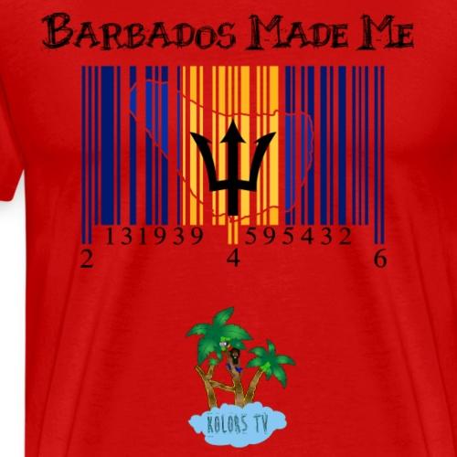 Barbados made me - Men's Premium T-Shirt