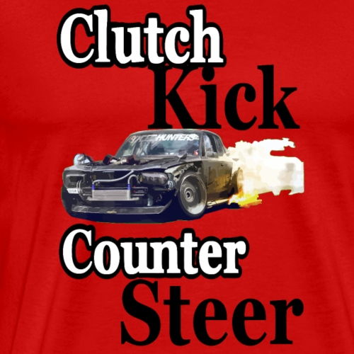 clutch kick counter steer drift - Men's Premium T-Shirt