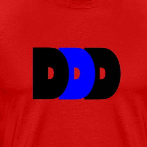 Plain DDD Black/Royal/Black - Men's Premium T-Shirt