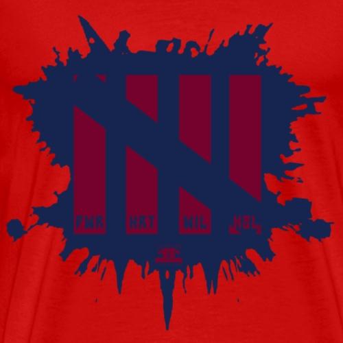 Attributes Blue/Red - Men's Premium T-Shirt