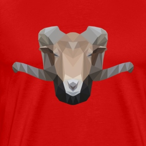 Low Poly Ram - Men's Premium T-Shirt