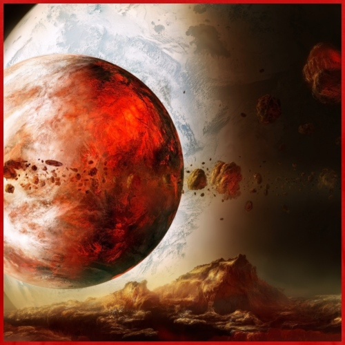 Red planets - Men's Premium T-Shirt