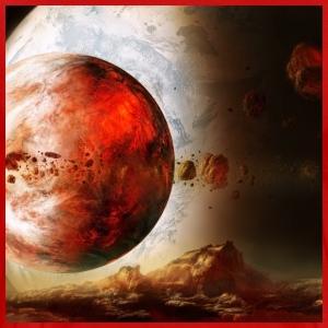 Red planets - Men's Premium T-Shirt