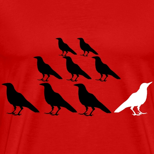 White Crow - Be The Exception - Men's Premium T-Shirt