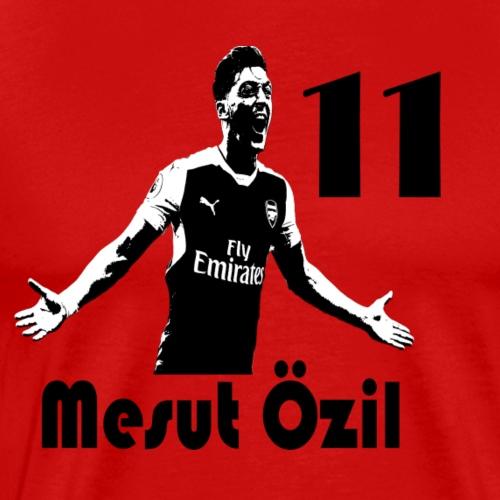 DSWear: Arsenal Mesut Ozil Fan Stencil - Men's Premium T-Shirt