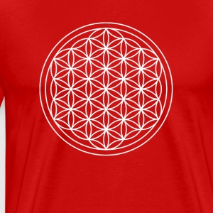 Flower of Life Sacred Geometry Design - Men's Premium T-Shirt