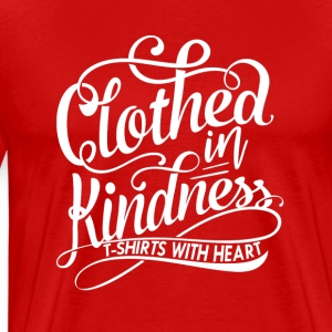 Clothed in Kindess logo shirt - Men's Premium T-Shirt