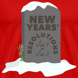New Years Resolutions tombstone - Men's Premium T-Shirt