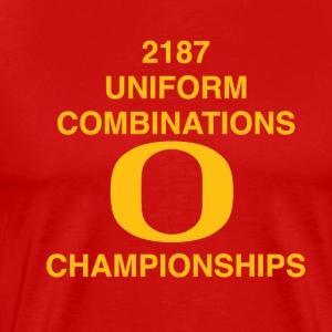 2187 UNIFORM COMBINATIONS O CHAMPIONSHIPS - Men's Premium T-Shirt