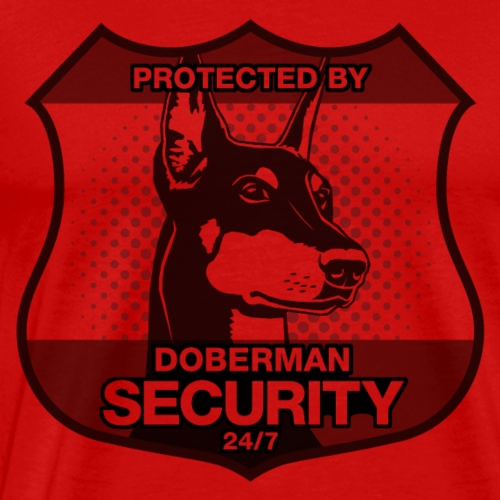 Protected By Doberman Security. - Men's Premium T-Shirt