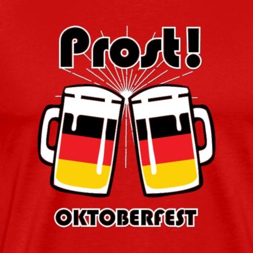 Oktober Fest German Flag Prost T Shirt - Men's Premium T-Shirt