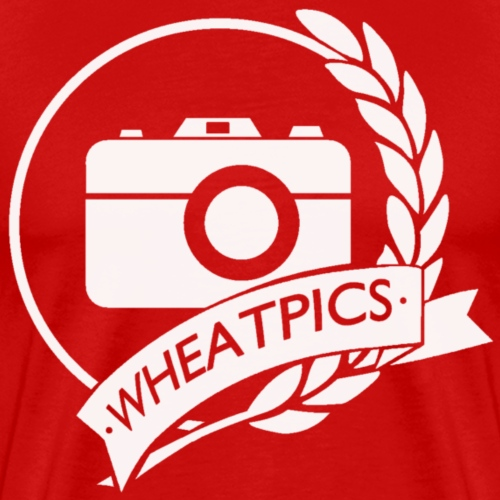 WheatPics White Logo - Men's Premium T-Shirt