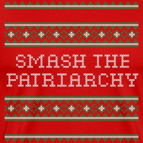 Smash The Patriarchy Christmas cross stitch - Men's Premium T-Shirt