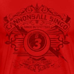 Vintage Cannonball Bingo Crest Dark Red - Men's Premium T-Shirt