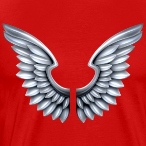 silver-angel-wings - Men's Premium T-Shirt