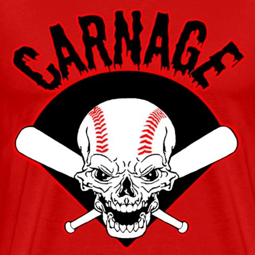 carnage logo black - Men's Premium T-Shirt