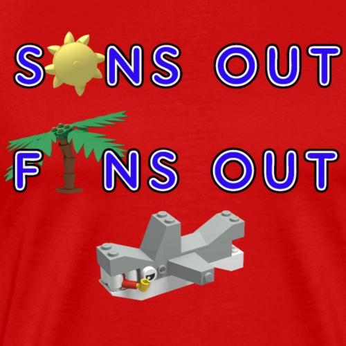 Suns Out Fins Out - Men's Premium T-Shirt