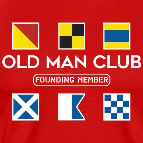 Old Man Club White Ink - Men's Premium T-Shirt