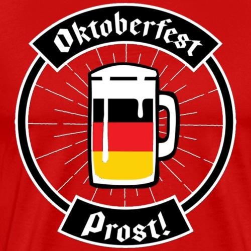 Oktoberfest German flag Beer Prost! T Shirt - Men's Premium T-Shirt