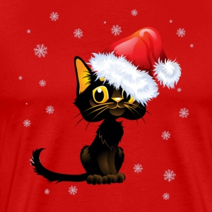 Xmas Cat - Men's Premium T-Shirt