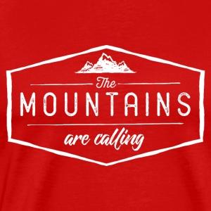 the montains are calling - Men's Premium T-Shirt