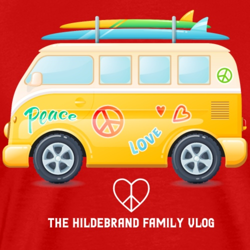 Peace and Love Van - Men's Premium T-Shirt