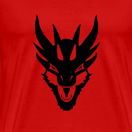 Black Dragon Face No Text - Men's Premium T-Shirt
