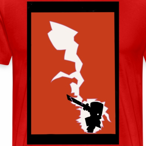 Castle crashers Red Knight print T-shirts - Men's Premium T-Shirt