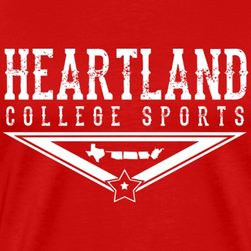 Heartland College Sports - WHITE LOGO - Men's Premium T-Shirt