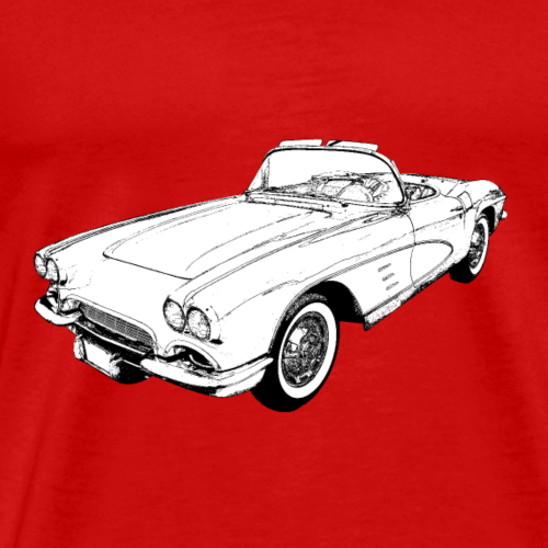 Corvette convertible 1958 - Men's Premium T-Shirt