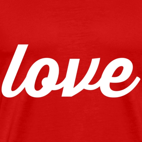 Love - Cursive Design (White Letters) - Men's Premium T-Shirt