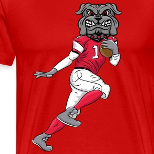 custom bulldog mascot wm - football - Men's Premium T-Shirt