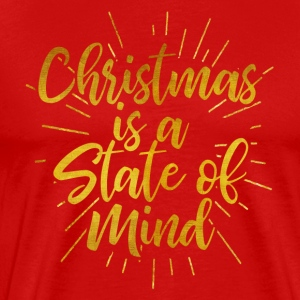 Christmas Is A State of Mind - Merry Christmas - Men's Premium T-Shirt