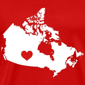 My Heart belongs in Canada - Men's Premium T-Shirt