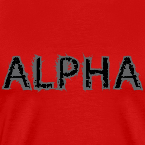 Pup Play Puppy Play Alpha Male Spiked Letters - Men's Premium T-Shirt