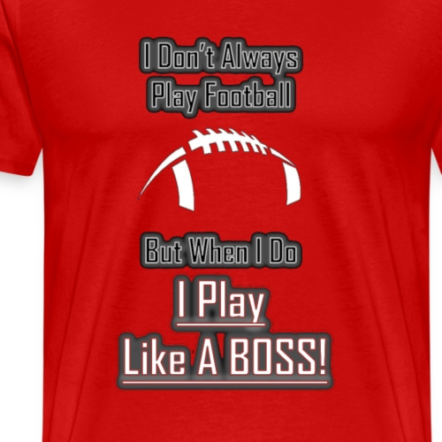 Football Boss Black and White Logo - Men's Premium T-Shirt