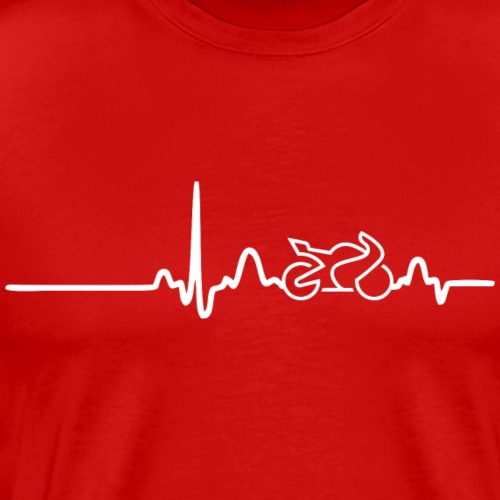 EKG HEARTLINE BIKE white - Men's Premium T-Shirt