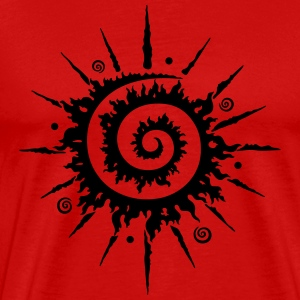 Midsummer sun, firewheel - Men's Premium T-Shirt