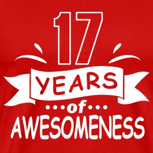 17 years of awesomeness - Men's Premium T-Shirt