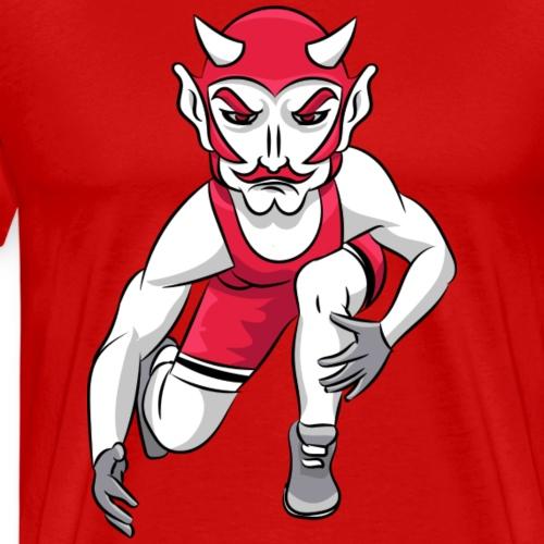 custom red devil mascot wrestling - Men's Premium T-Shirt