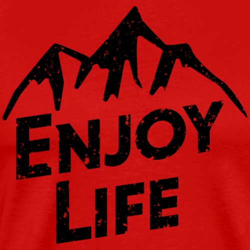 Enjoy Life Black Top Mountain - Men's Premium T-Shirt