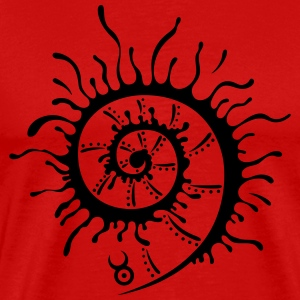 Big firewheel, shell, summer - Men's Premium T-Shirt