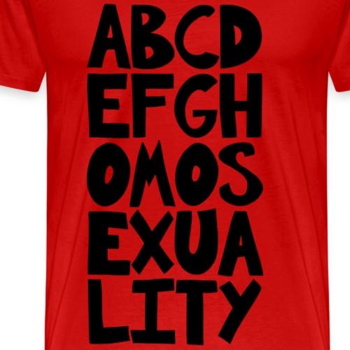 ABCDEFGHOMOSEXUALITY - Men's Premium T-Shirt