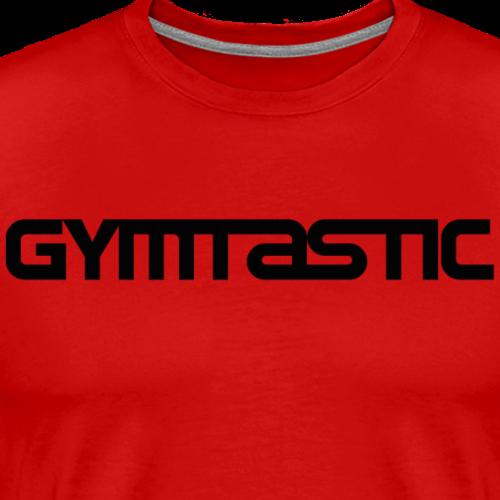 Gymtastic - black - horizontal - front - Men's Premium T-Shirt