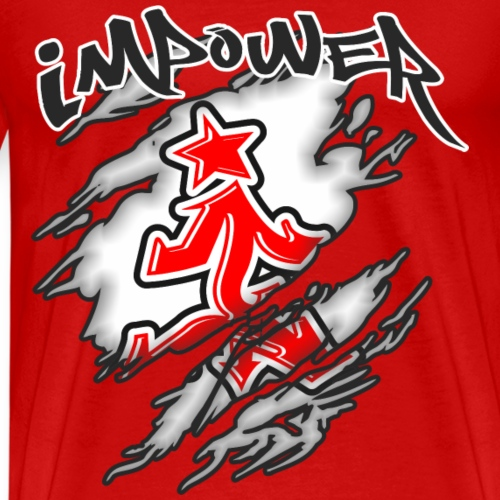 Impower street wear claw design - Men's Premium T-Shirt