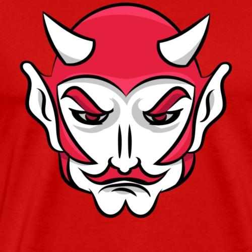 custom red devil mascot head - Men's Premium T-Shirt